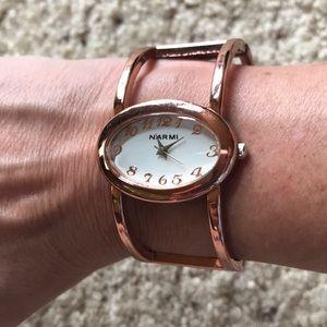Cute copper bangle watch
